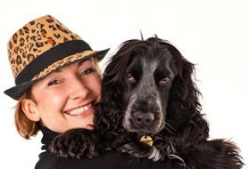 Michelle Crossman and her dog Beau